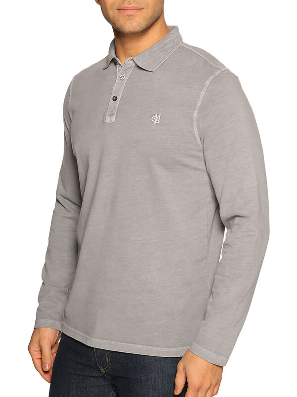 Regular-Fit Long-Sleeved Polo